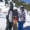 JD and Bob ready to snowboard at Mt Ashland
