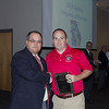 Jason Williams (right) receives the 2014 District 8 Umpire of the Year Award) from Assistant Georgia ASA Umpire-In-Chief, Lee Folsom, at the 2015 Georgia ASA State Umpire Clinic in Douglasville, GA on January 24, 2015.