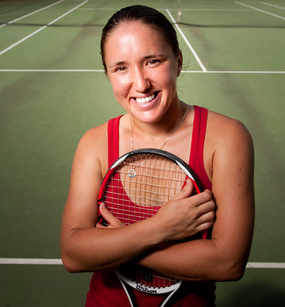 July 28, 2011 - Bronx, NY : Internationally ranked tennis player and longtime Riverdalian Lena Litvak, photographed at Seton Park on July 28. Karsten Moran / The Riverdale Press