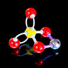 Copper Sulfate molecule made of balls and rods