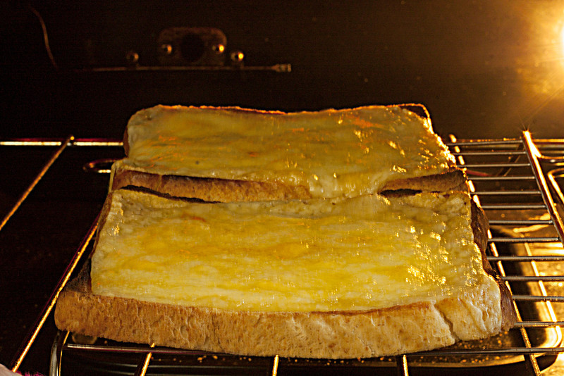 Bubbling Welsh rarebit