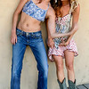 Beautiful Blond & Brunette Cowgirls in Cowboy Boots with Guns! Tall, Thin, Fit, Hot & Pretty Model Goddesses!