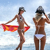Beautiful Blond & Brunette Malibu Surf Girls! Tall, Thin, Fit, Hot & Pretty Bikini Swimsuit Model Surf Goddesses!