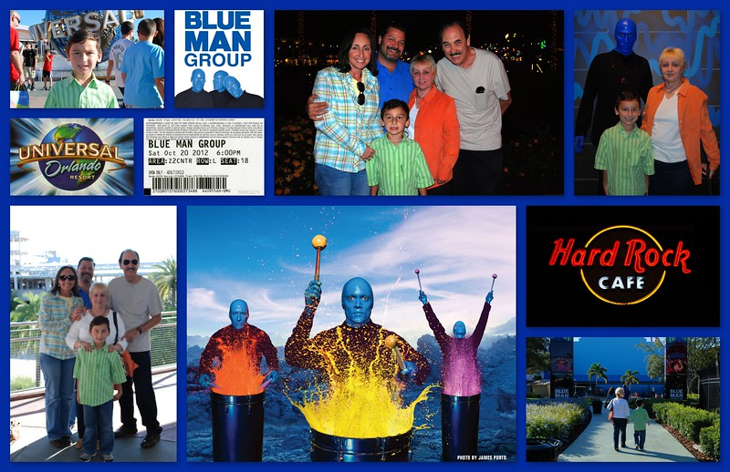 10-20-12 Blue Man Group for Mom's Bday
