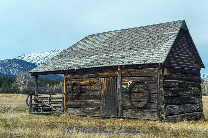 Shed on the Cutthroat Ranch, Bitterroot River south of Hamilton, Montana. IMG_5404