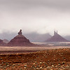 Snow Clouds Descending on Monument Valley