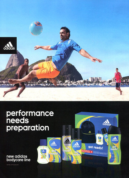 ADIDAS Get Ready for Him 2014 Spain 'Performance needs preparation - New Adidas bodycare line'