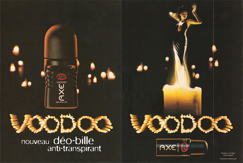 AXE Voodoo 2002 France (recto-verso with scented strip)