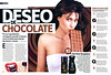 AXE Dark Temptation 2008 Spain spread (advertorial FHM) handbag size format'Deseo de chocolate'