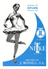 1955 J. ROSSELL Nike stockings: Spain (from Liceu theatre programme)