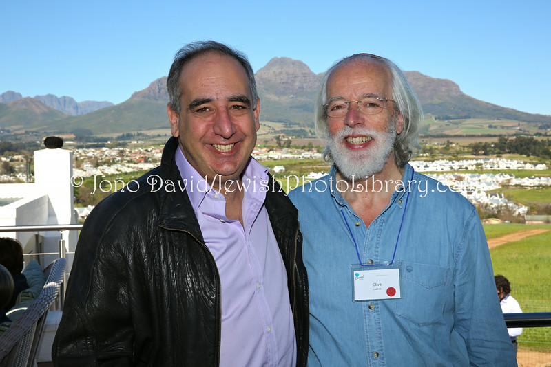 ZA 18872  Ambassador of Israel to South Africa Arthur Lenk (L) and Clive Lawton (Limmud founder:developer), Limmud Cape Town 2014  Stellenbosch, South Africa