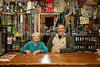 ZA 18385  Lee and Charles (son) Starkowitz, owners of Starky's, a traditional African herbal shop  Pietersburg (Polokwane), South Africa