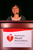 "Las Vegas, NV - AHA BCVS 2013 : Jau-Nian Chen, PhD discusses ""Novel Treatment of Arrhythmias associated with aberrant Ca2+ handling"" during the  Arrhythmia Triggers session during the American Heart Association Basic Cardiovascular Sciences (BCVS) Meeting here today, Wednesday July 24, 2013.  Physicians, researchers and healthcare professionals gathered at the meeting which is being held at the Paris Hotel to improve understanding of mechanisms of basic cardiovascular regulation to support the development of new therapies and new insights into clinical cardiovascular disease. Photo by © AHA/Todd Buchanan 2013 Technical Questions: todd@medmeetingiamges.com"