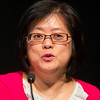 Las Vegas, NV - AHA 2014 BCVS - Ronglih Liao, PhD, discusses Cardiac Amyloidosis: Model Organisms Inform Human Disease during Session 8:  Cardiovascular Omics here today, Tuesday July 15, 2014 during the American Heart Association's Basic Cardiovascular Sciences Sessions (BCVS) being held here at the Paris Hotel in Las Vegas. Photo by © AHA/Todd Buchanan 2014 Technical Questions: todd@medmeetingimages.com