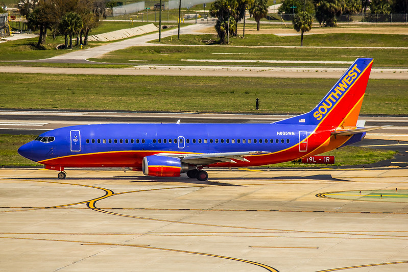Southwest Airlines, N665WN, Boeing 737-3Y0, msn 23497, Photo by John A Miller, TPA, Image K094LGJM