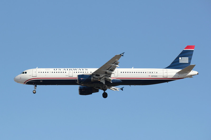 USAirways, N172US, Airbus A321-211, msn 1472, Photo by John A. Miller, TPA, Image TA006LAJM