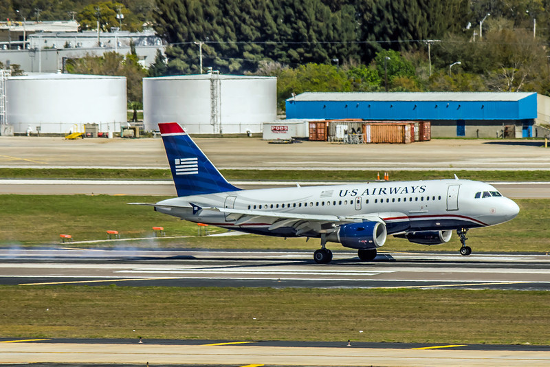 USAirways, N767UW, Airbus A319-112, msn 1382, Photo by John A Miller, TPA, Image AB026RGJM