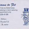 My very FIRST business card design, while I was an amateurish teenager. Small jobs like this didn't bring down a lot of cheddar, but they did a lot to give me confidence that I could nail what the client was after.