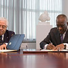 President Jones signs a Memo-of-Understanding with Rector Juan Tobias of the Universidad del Salvador in Argentina to continue the relationship between the two universities.  Photographer: Paul Miller