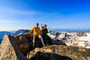 Photographer Dave M. Shumway and climbing partner Nathan Zavadil pose for a photo atop Whitetail Peak (12,556' / 3,828m - Montana's 4 highest peak), early on a July morning in the Absaroka-Beartooth Wilderness.