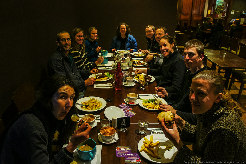 We finish off the weekend with some delicious hot food at the Blue Mountains Hotel at Lawson.