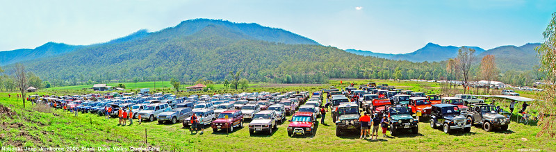 National Jeep Jamboree at Black Duck Valley out of Gatton in Queensland 2006. One of the many well run Jeep adventures this writer has enjoyed. Big thanks to all involved.