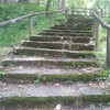Steps up to the dining hall at Big Springs National Park