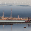 Dumbarton Bridge and Dredger<br /> Don Edwards National Wildlife Refuge, Fremont, California<br /> 1407R-DAB2