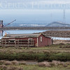 Hunters Cabin, Dredge, and the Dumbarton Bridge<br /> Don Edwards National Wildlife Refuge, Fremont, California<br /> 1407R-CDAB1