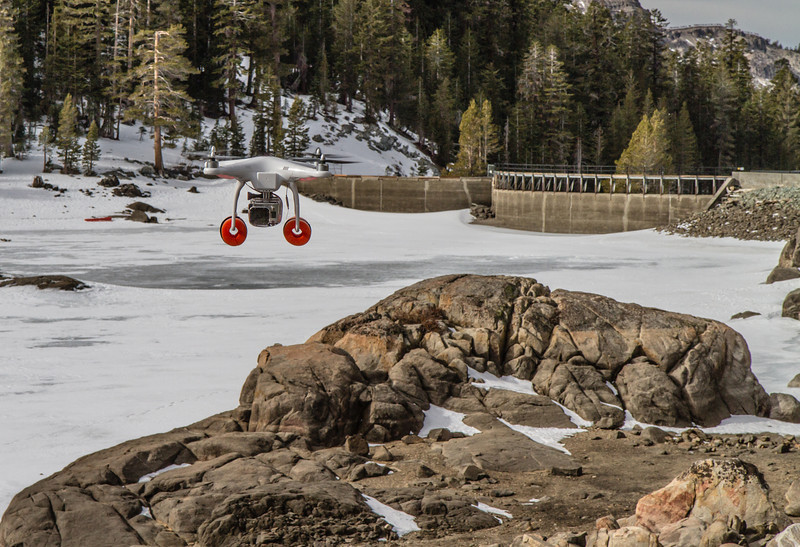 DJI Phantom at Caples Lake, California