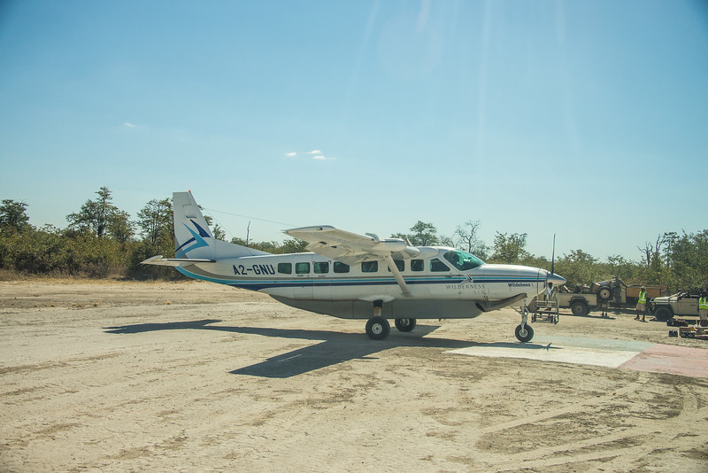 Our plane to Livingstone, Zambia