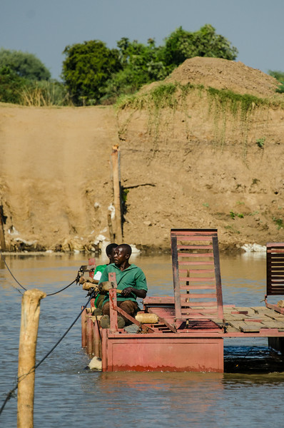 The one vehicle, human powered Ferry Across the Luangwa River