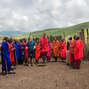 Maasai tribe living on the edge of the Ngorongoro Crater