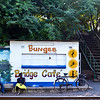 The bungee cafe on the other side of the bridge