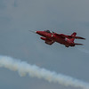 RAF Red Arrow Hawk Jet in Flight