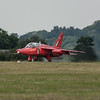 RAF Red Arrow Hawk Jet Preparing for Take Off