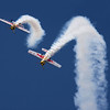 Red Bull Airplanes in acrobatic aerial display