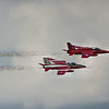 RAF Red Arrow Jets in Flight