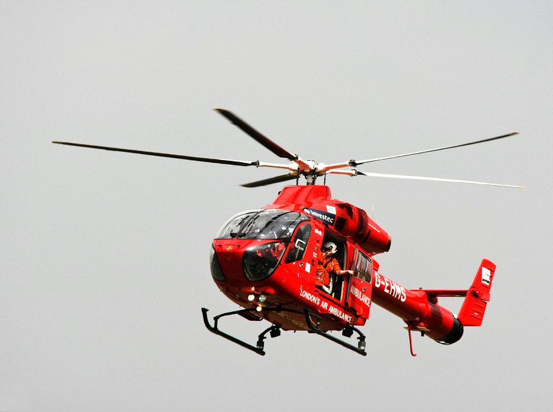 London Air Ambulance in flight