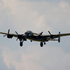 RAF Lancaster Bomber in flight