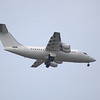 British Aerospace Avro 146-RJ85 (G-LENM) of Cello Aviation on approach to Glasgow Airport