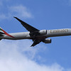An Emirates Boeing 777-36N/ER (A6-EBO) on approach to Glasgow Airport