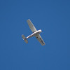 A Reims-Cessna F172M Skyhawk (G-GBLP) over Glasgow. This is a license built version of the Cessna 172