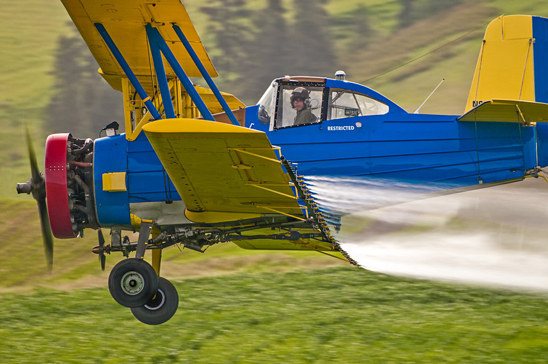 Crop Duster in Palouse Washington