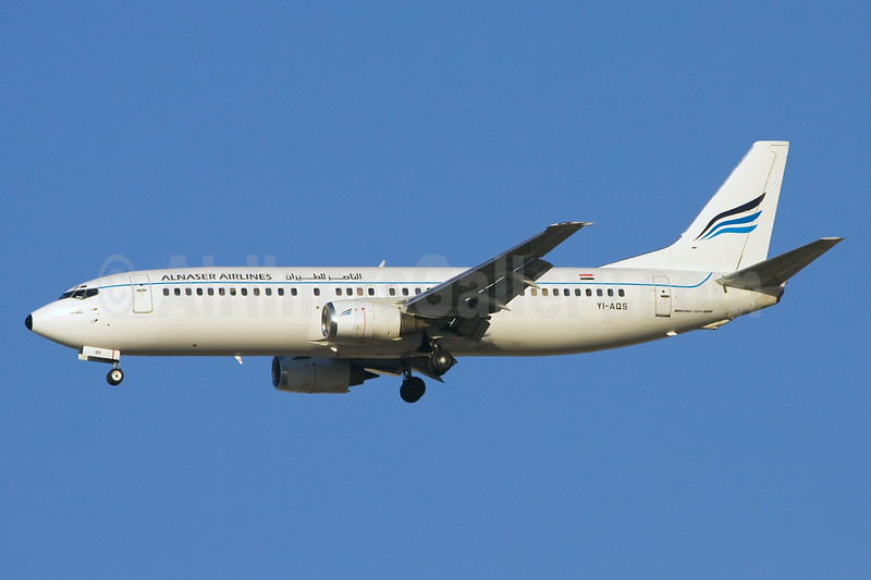 Alnaser Airlines Boeing 737-48E YI-AQS (msn 25765) DXB (Ole Simon). Image: 920132.
