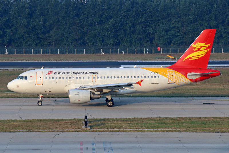 Capital Airlines (China)-HNA Airbus A319-112 B-6215 (msn 2611) PEK (Michael B. Ing). Image: 921707.