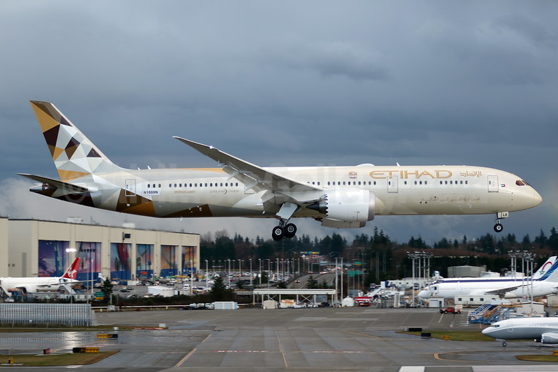 The first Boeing 787 Dreamliner for Etihad Airways