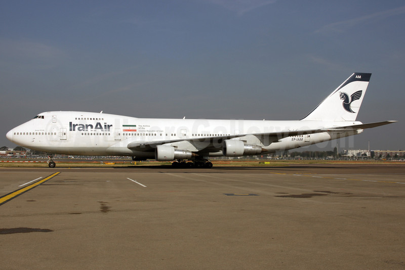 IranAir-The Airline of the Islamic Republic of Iran Boeing 747-186B EP-IAM (msn 21759) LHR (Antony J. Best). Image: 902126.