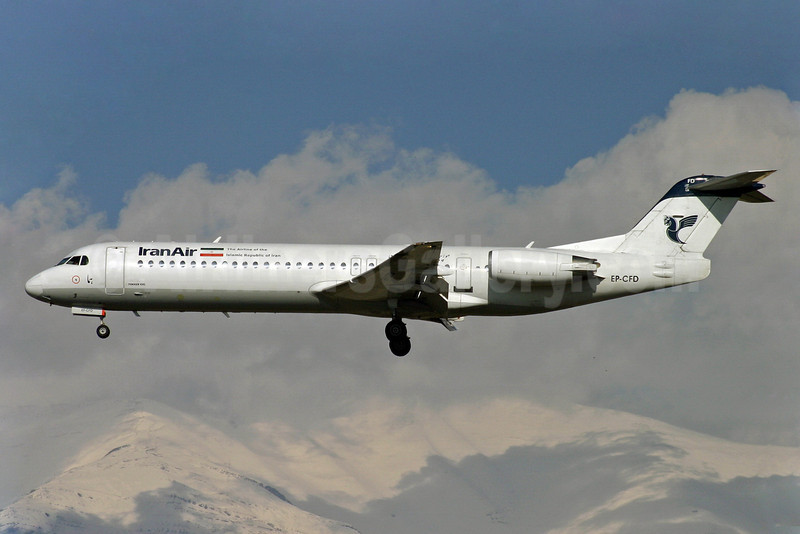 "IranAir-The Airline of the Islamic Republic of Iran Fokker F.28 Mk. 0100 EP-CFD (msn 11442) THR (Shahram ""Shary"" Sharifi). Image: 9011211."