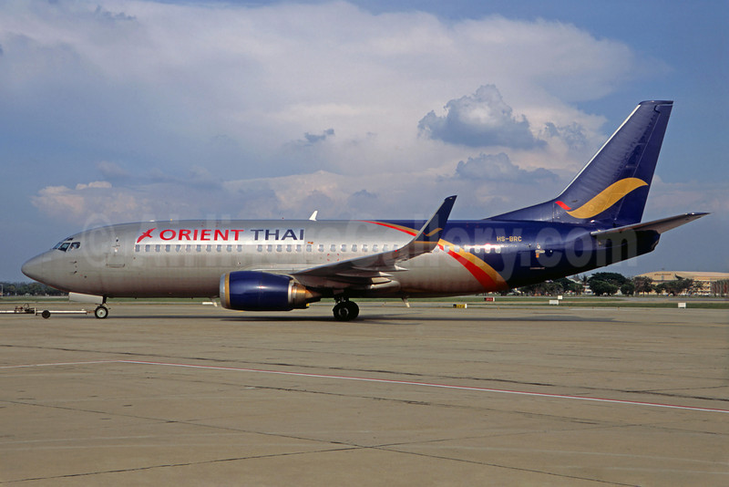 Orient Thai Airlines Boeing 737-3T0 WL HR-BRC (msn 23371) DMK (Jacques Guillem Collection). Image: 922355.